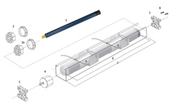 Схема римского карниза с электроприводом.  Короб римского электрокарниза изготавливается из алюминия, стандартный...