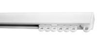 фото профильного потолочного алюминиевого карниза для тяжёлых штор ронде